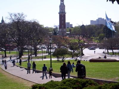 Plaza San Martín With The Torre Monumental
