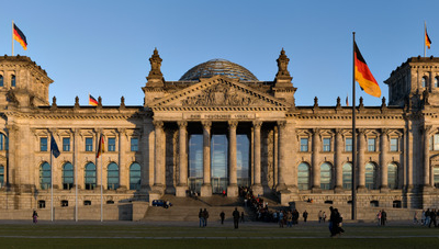 Reichstag Building Berlin View From West