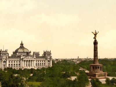 Königsplatz, With The Reichstag And The Victory Column