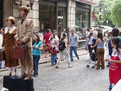 Street Performers In San Telmo