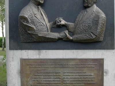 Sculpture Of Charles De Gaulle And Konrad Adenauer