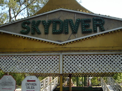 Gates To The Former Skydiver Ride