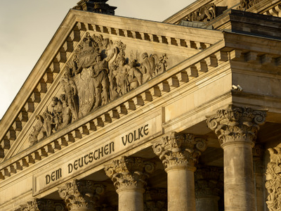 Inscription Detail Of The Reichstag