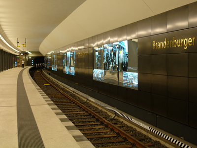 Platform Of The New U-Bahn Station (U55)