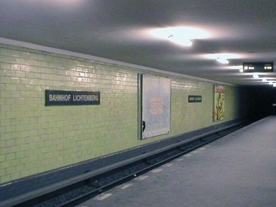 The Berlin Underground Station Lichtenberg