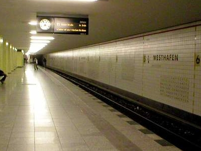 Westhafen U-Bahn Station