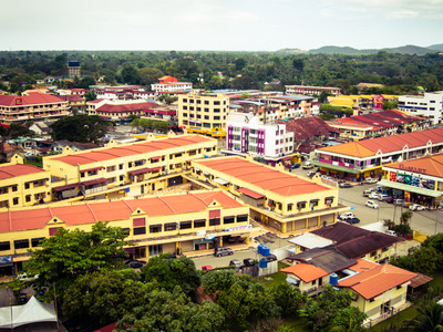 View Of Tuaran Town