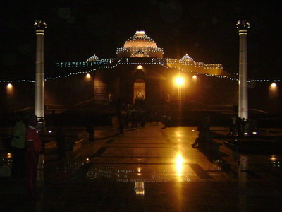 Ambedkar  Stupa  Night View