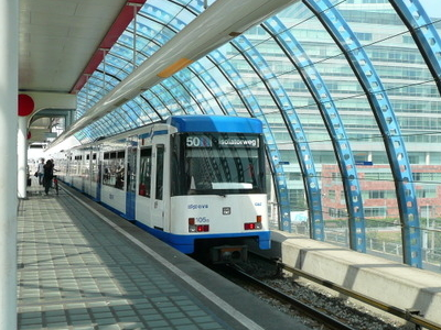 A Metro On Line 50 At Sloterdijk