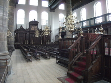 The Spacious Interior Is Filled With Benches