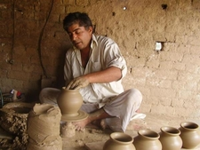 Clay Artist Working Thrower Gujrat Pakistan