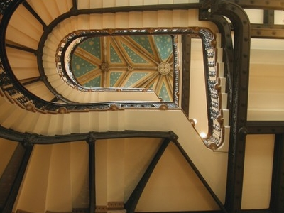 George Gilbert Scotts Grand Staircase Inside The St. Pancras Renaissance Hotel