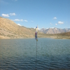 Flag At Dhankar Lake