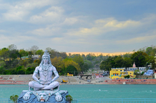 Lord Shiva By The River Ganges
