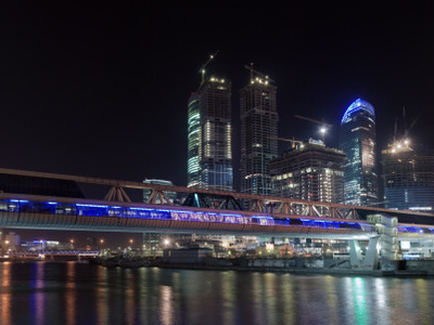 Bagration Bridge At Night
