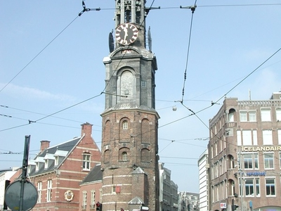 Tram Lines Crisscrossing The Muntplein