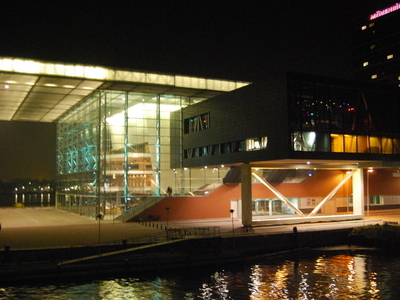 The Muziekgebouw And Bimhuis At Night