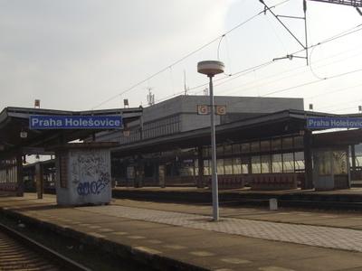 Praha-Holešovice Railway Station Platform