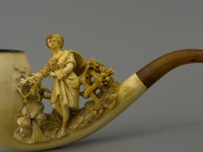 Carved Meerschaum Pipe, Made In United States