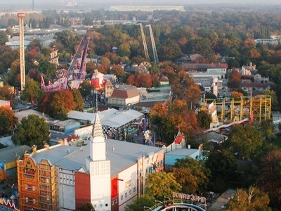 Wurstelprater Viewed From The Wiener Riesenrad