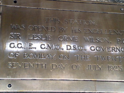 Pune  Junction     Inauguration Plaque
