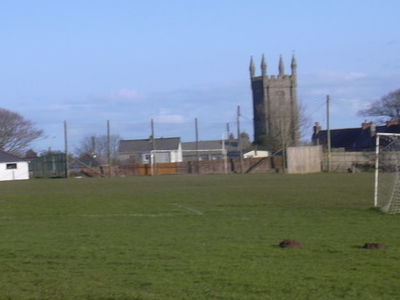 View Of The Church And The Recreation Ground