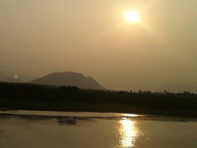 Sunset On River  Sarada Near  Anakaplli  Visakhapatnam