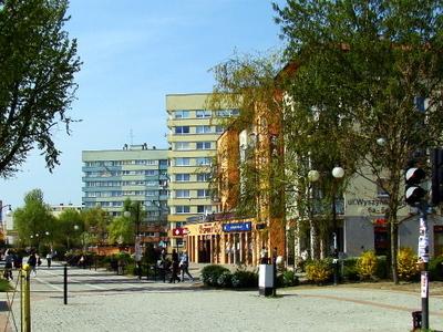 Wyszyńskiego Street In The New Town Of Police