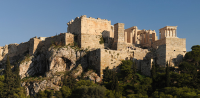 Acropolis Of Athens View From Areopagus Hill