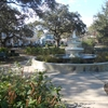 A Fountain In The Center Of Allan Park