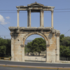 Arch Of Hadrian At The Amalias Avenue