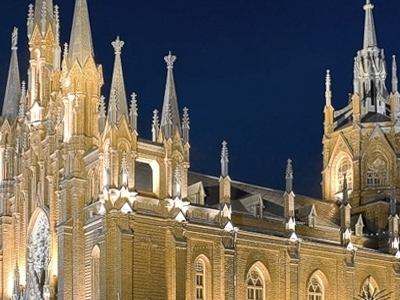 The Restored Cathedral At Night