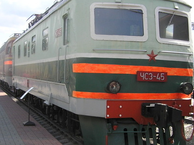 ChS3-45 At The Moscow Railway Museum, Rizhsky Station