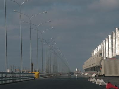 Saint Petersburg Ring Road Over The Dam