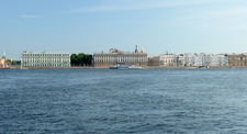 The Palace Quay As Seen From The Peter And Paul Fortress