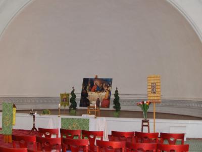 Inside Of Evangelical Lutheran Church Of Saint Katarina