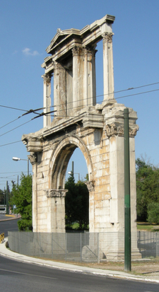 Arch Of Hadrian 3/4 View