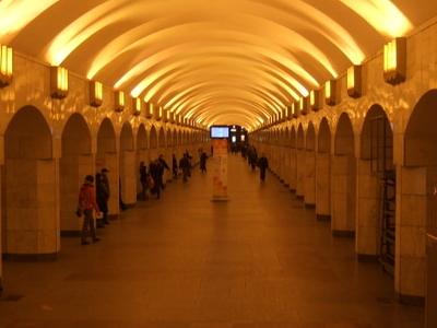 Inside Of Ploshchad Alexandra Nevskogo II