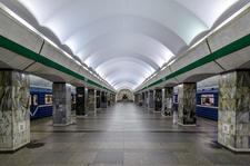 Primorskaya Metro Station Platform