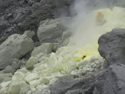A Sulfuric Vent In Mount Apo.