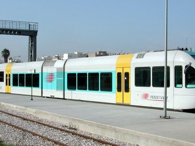 A Proastiakos Suburban Train At The Station