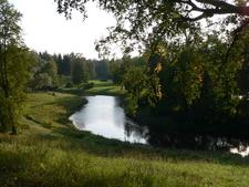 The Slavyanka River In Pavlovsk Park In Autumn