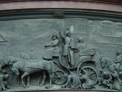 Nikolay I Pacifies Cholera Riot. Sculptor Ramazanov