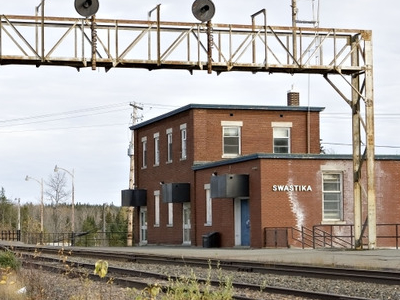 Train Station In Swastika, Ontario