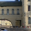 Hermitage Bridge From Neva River
