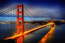 Golden Gate Bridge San Francisco At Night Usa