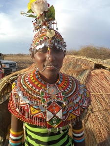 Dassanch Lady In Chalbi Desert Kenya