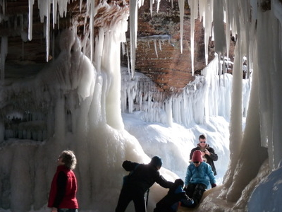Apostle  Island  Sea  Cave In  Winter