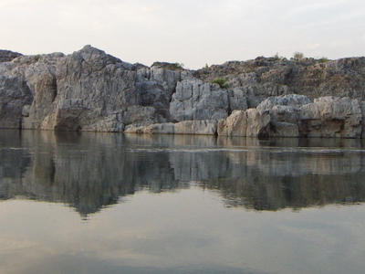 Marble Rocks Alongside Narmada River