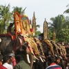 Elephants Lined Up For Pooram